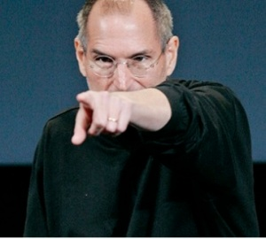 steve jobs finger