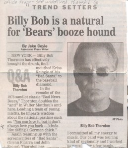 Billy BobThornton Article