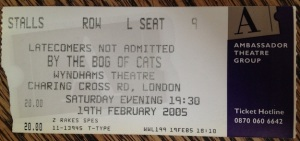 bog of cats ticket