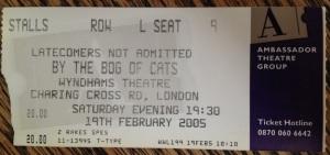 bog of cats ticket