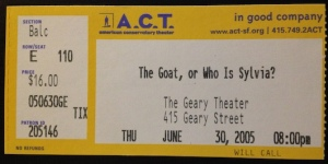 The Goat ticket