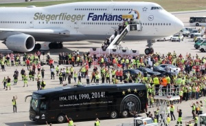 Team Germany Arrives At Berlin Tegel