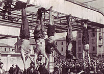 Mussolini 2nd from left.
