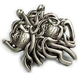 Spaghetti monster lapel pin you too can buy. Source: Amazon. Yeah, baby.