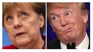 Merkel Trump happiness