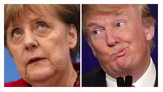 Merkel Trump happiness