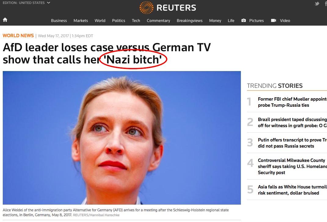 nazi bitch wrong translation