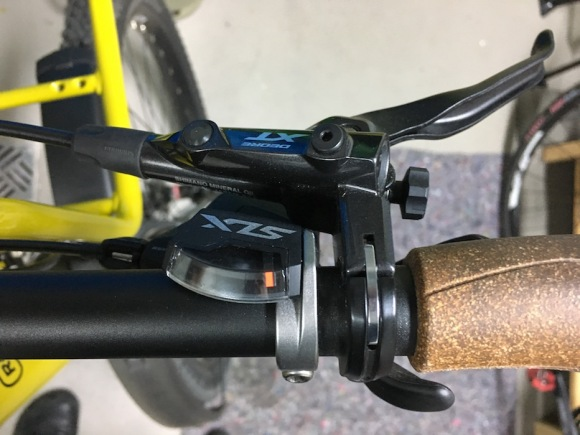 charger gx touring brake and shift mount cluster