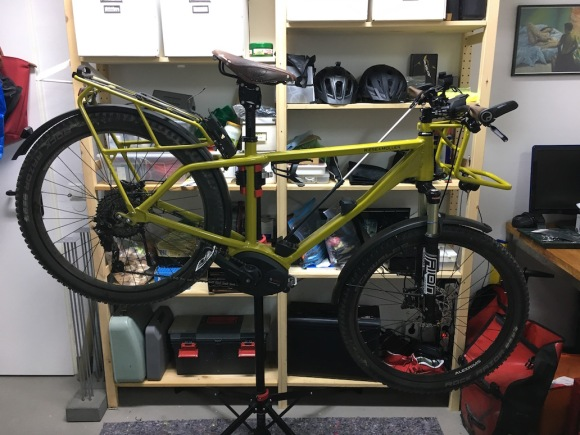 charger gx touring on bike rack