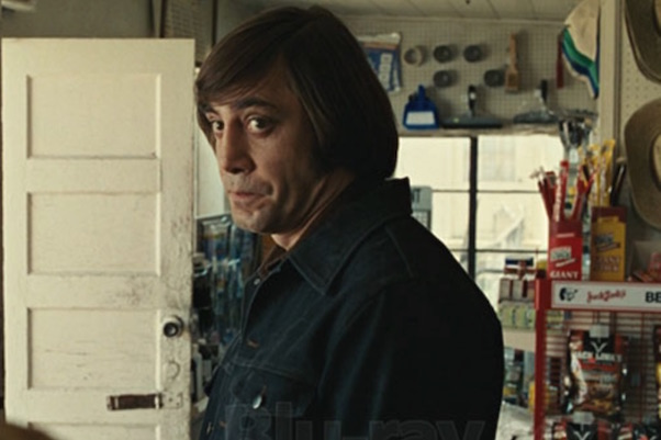 Anton Chigurh - put up scene
