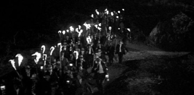 mob with torches