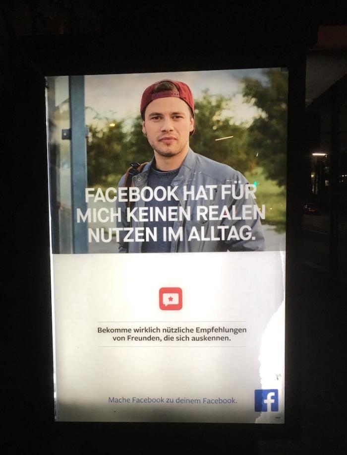 facebook street advert in germany