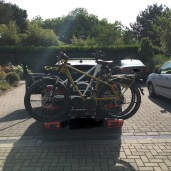 Mini Clubman with hitch bike rack rear 1
