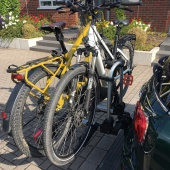Mini Clubman with hitch bike rack side 2
