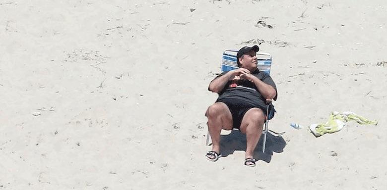 chris christie on a beach